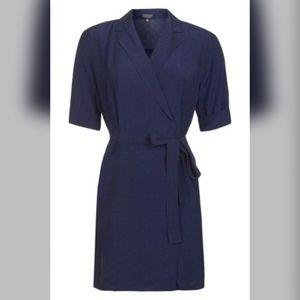 TOPSHOP Dot Jacquard Wrap Dress